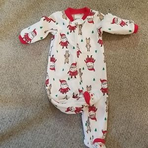 Carter's Footed One Piece Baby Flannel